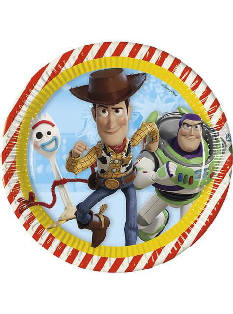 8 platos (23 cm) Toy Story 4