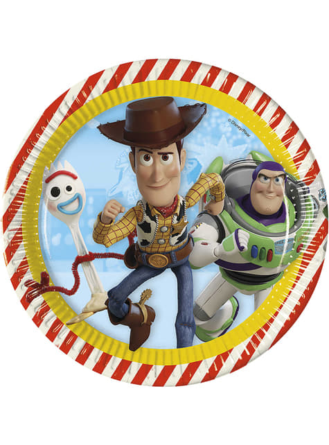 8 pratos Toy Story 4 (23 cm)