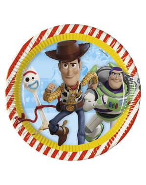 8 Toy Story 4 Tallerkener (23 cm)