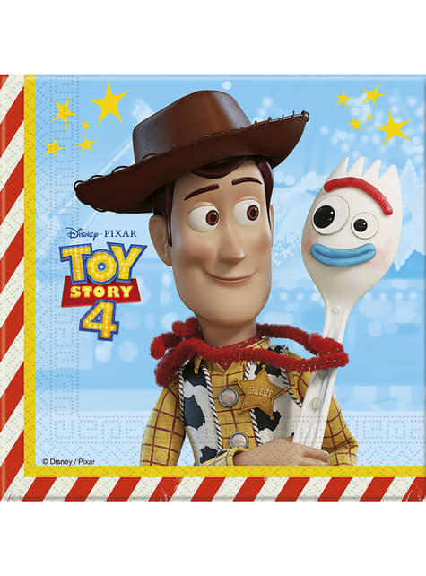 20 guardanapos Toy Story 4 (33x33 cm)