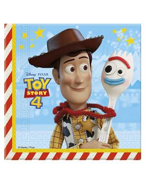20 Serviettes en papier Toy Story 4 (33x33 cm)