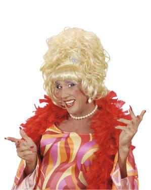 Blondi Nainen -Peruukki Miehille
