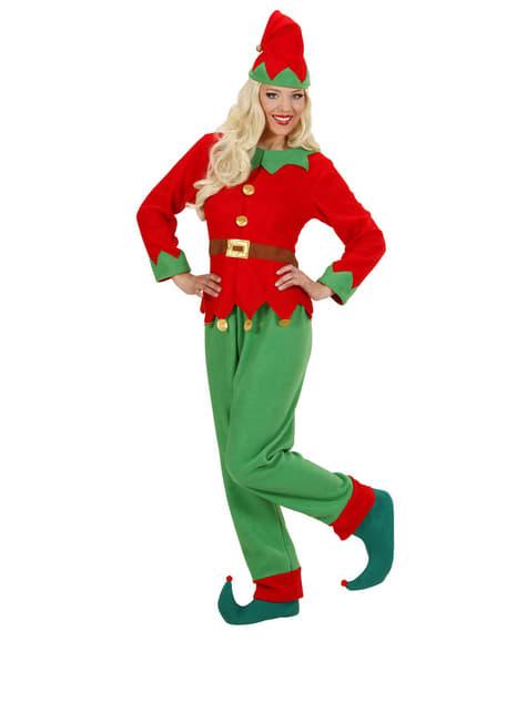 Strój elf z bieguna pólnocnego damski