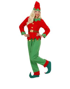 Elf vom Nordpol Kostüm für Damen