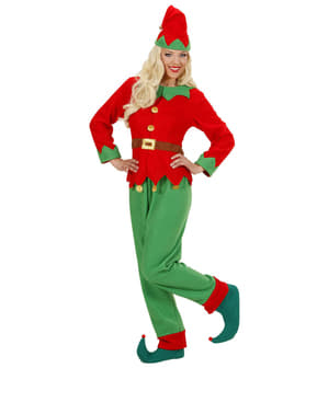 Fato de elfo do Polo Norte para mulher
