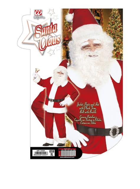 Disfraz de Papá Noel de súper lujo para hombre