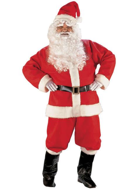 Disfraz de Papá Noel lujo para hombre