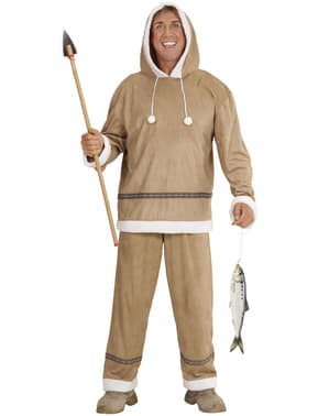 Mens Plus Size Eskimo Costume