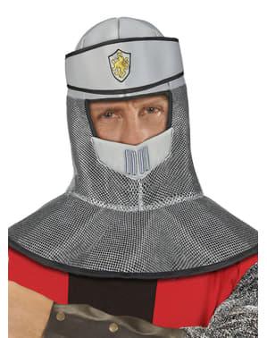 Capacete medieval de pano para homem