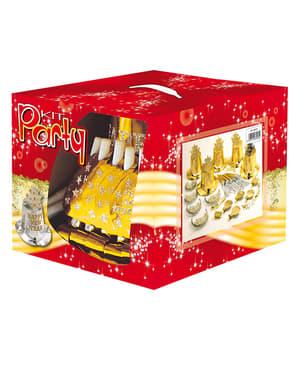 Guldgult partykit Feliz Año Nuevo för 10 personer