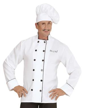 Chef kostuum voor mannen grote maat