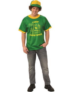 T-shirt de Dustin Acampamento Stranger Things 3 para homem