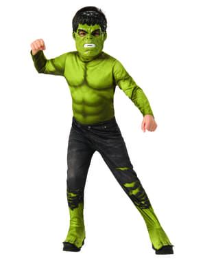 Fato de Hulk deluxe calças rotas para menino - Os Vingadores