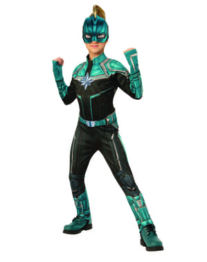 Fato de Kree deluxe para menina - Captain Marvel