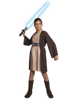 Jedi Deluxe Kostyme til Jenter - Star Wars