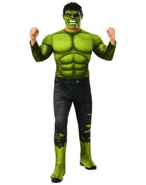 Fato de Hulk deluxe calças rotas para homem - Os Vingadores