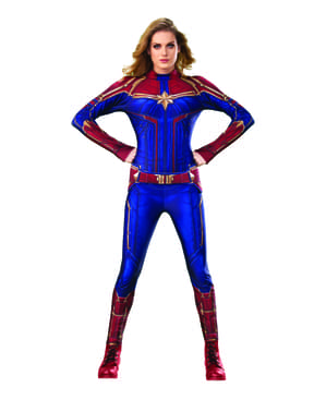 Captain Marvel Classic Costume for Women