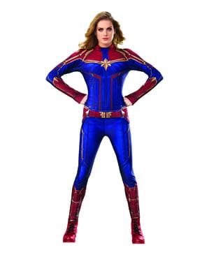 Fato de Captain Marvel classic para mulher