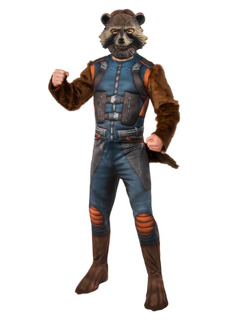 Disfraz de Rocket Raccoon deluxe para hombre - Los Vengadores