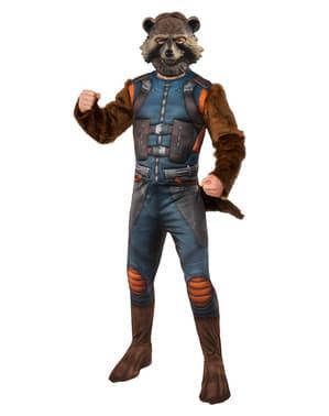 Fato de Rocket Raccoon deluxe para homem - Os Vingadores