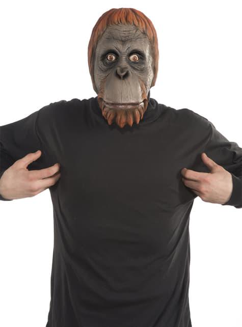 Máscara de orangután de látex