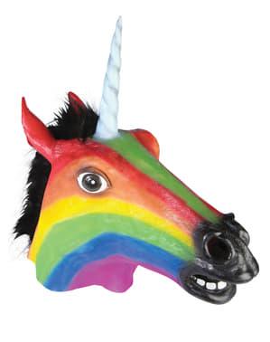 Masque cheval fou arc-en-ciel
