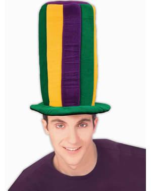 Klobouk Mardi Gras extra vysoký