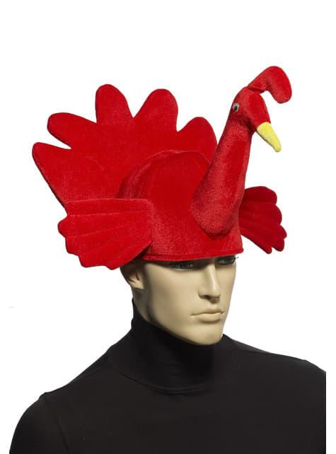 Chapéu de peru vermelho