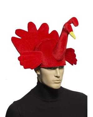 Sombrero de pavo rojo