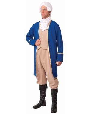 Pánský kostým George Washington nadměrná velikost