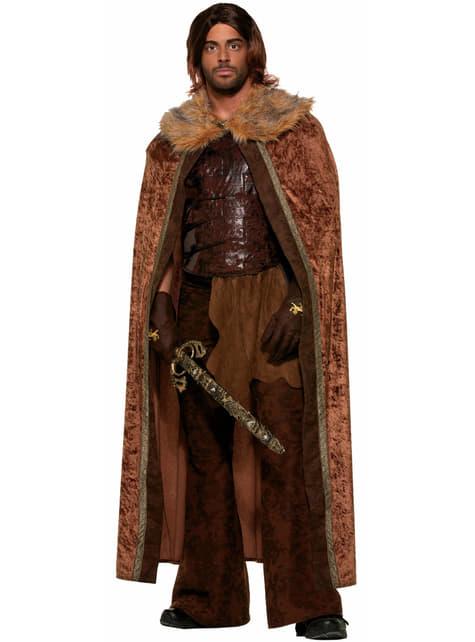 Cape marron médiévale homme