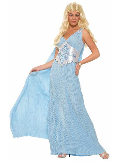 Γυναικείο ανοιχτό μπλε βασίλισσα κοστούμι δράκων
