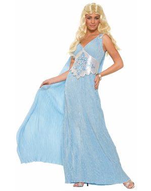 Drachenkönigin Kostüm hellblau für Damen