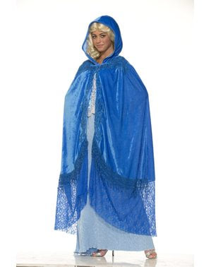 Drachenkönigin Umhang blau für Damen