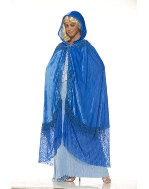 Mantello azzurro da regina dei draghi da donna