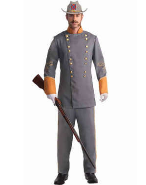Confederaat officier kostuum voor mannen