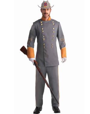 Férfi konföderációs tisztviselő jelmez