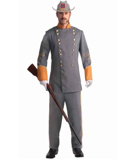 Disfraz de oficial Confederado para hombre talla grande