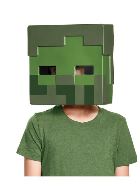Máscara Minecraft Zombie infantil - para tu disfraz