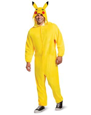 Pikachu Onesie Kostyme til Menn - Pokemon