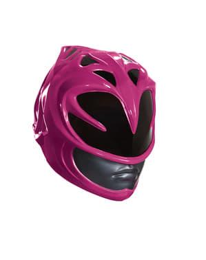 Casco Power Rangers rosa para mujer