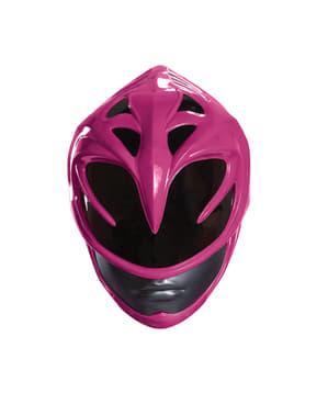 Capacete Power Rangers cor-de-rosa para mulher