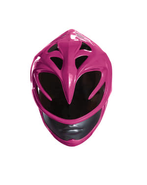 Casque Power Rangers rose femme