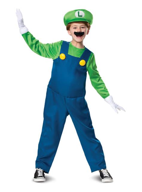 Disfraz de Luigi Prestige para niño - Super Mario Bros