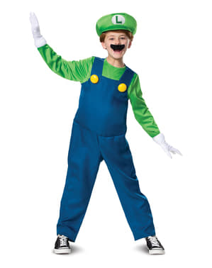 Déguisement Luigi deluxe enfant – Super Mario Bros