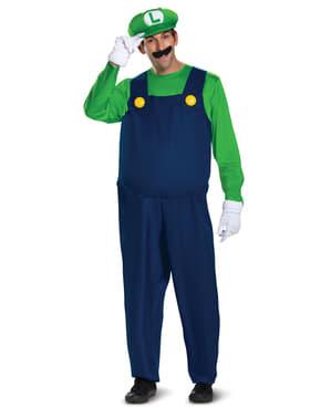 Prestisje Luigi kostyme til menn Super Mario Bros