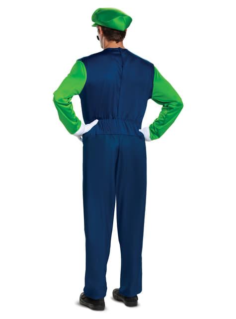 Disfraz de Luigi Prestige para hombre   Super Mario Bros - hombre