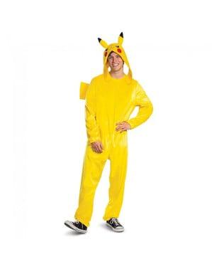 Pikachu Deluxe Kostyme til Menn - Pokemon