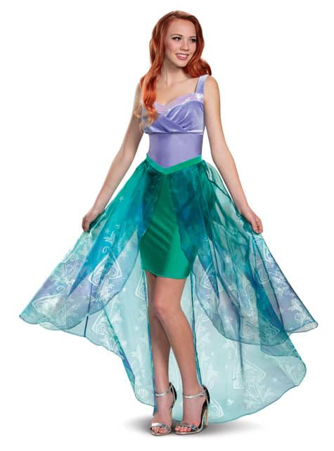 Fato de Ariel Deluxe para mulher - A Pequena Sereia