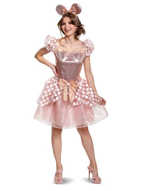 Minnie Mouse Deluxe Kostume til kvinder - Disney